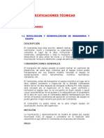Especificaciones Técnicas - Talavera - Accoscca