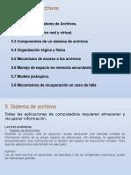 5.-Sistemas de Archivos