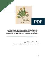 Supervisión arqueológica en el Atrio del templo del Divino Salvador en Malinalco, estado de México