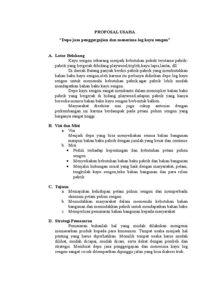 Contoh Proposal Usaha Toko Bangunan Goresan