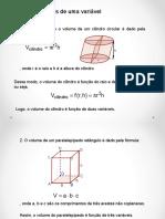 Calculo 3 Aula 2 - Funções de Varias Variáveis (Revisão)
