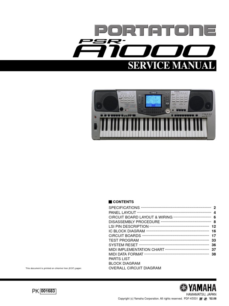 Yamaha Psr A1000pdf Dynamic Random Access Memory Input Output Keyboard Wiring Diagram