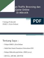 Memisahkan Traffic Browsing Dan Game Online Di Mikrotik - MUM