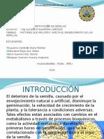 FACTORES QUE INFLUYEN Y AFECTA EL ENVEJECIMIENTO DE LAS SEMILLAS.