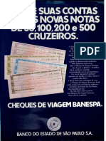 Cheques de Viagem Banespa 1970