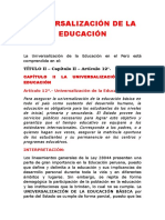 Universalización de La Educación