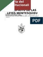 Pensamiento Político de Montesquieu