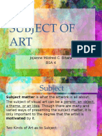 Subject of Art
