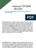 How to Remove Totopweb.com