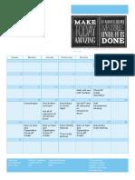 counseling calendar