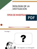 Tipos de Investigacion Clase 2