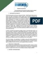 Asistente Especialista en La Paz del Programa de Presupuestos Sensibles al género en Bolivia