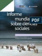 Informe Mundial Sobre Ciencias Sociales. Cambios ambientales globales. Consejo Latinoamericano de Ciencias Sociales.