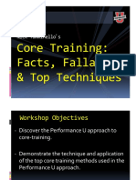 Core Training- Facts, Fallacies and Top Techniques - HANDOUT Single Slide