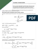 Fourier Transforms