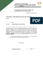 Oficio Padrino 3º b 2015