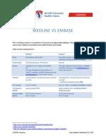 Medline vs Embase