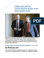 Key GOP senators join call for bipartisan Russia election probe.docx