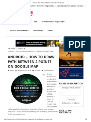 Android – How to Draw Path Between 2 Points on Google Map
