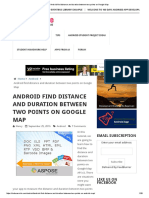 Android Find Distance and Duration Between Two Points on Google Map