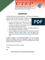 Comunicado Cen Del Sutep Declaraciones Canal n Hamer Villena