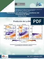 Generación de información y monitoreo del Fenómeno El Niño