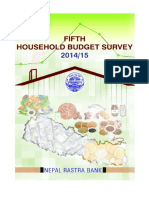 Study Reports-Fifth Household Budget Survey 2014-2015