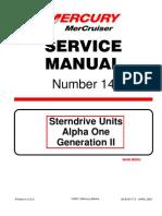 Mercruiser Service Manual 14 A