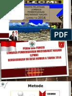 Bahan Pelatihan dan Pembinaan Lembaga Pemberdayaan Masyarakat Nagari Kapau