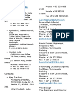 Address & Contacts