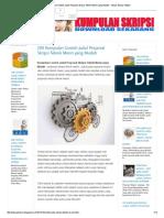 200 Kumpulan Contoh Judul Proposal Skripsi Teknik Mesin yang Mudah - Hanya Skripsi Tebaik.pdf