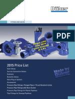 VFA Price-list FittingsValves 2015