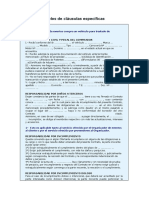 CLAUSULAS ESPECIFICAS modelo de contrato