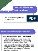 Interaksi Herbal Modern