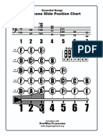 trombone fingering chart