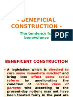 Beneficial Construction