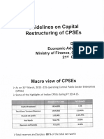 Presentation on Capital Restructuring of CPSEs- 21.10.2016