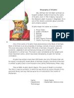 Biography of Al-Jahiz