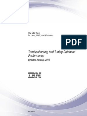 IBM DB2 10 5 for Linux, UNIX, And Windows - Troubleshooting and