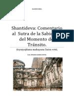 Shantideva Comentario Al Sutra de La Sabiduría Del Momento Del Tránsito.