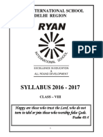 Class VIII Syllabus 2016 17