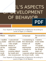 Gessel's Aspects of Development of Behavior Ppt