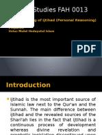 Understanding of Ijtihad (Personal Reasoning)
