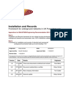 UK Power Networks G81 Installation and Records Appendices V3.0