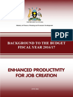 Background to the Budget - FY2016-17