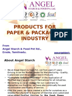 Angel Starch's Products for Paper & Packaging Industry