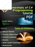00 Fundamentals of Csharp Course Introduction 110627100118 Phpapp02
