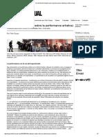 EL APLAUSO (Notas Sobre La Performance Artística) _ Tráfico Visual