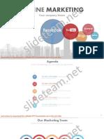 Social Media Focused Online Marketing PowerPoint Presentation