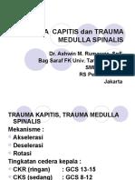 Trauma Kapitis Medula Spinalis